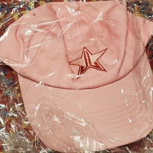 Pink jeffree star valentines hat